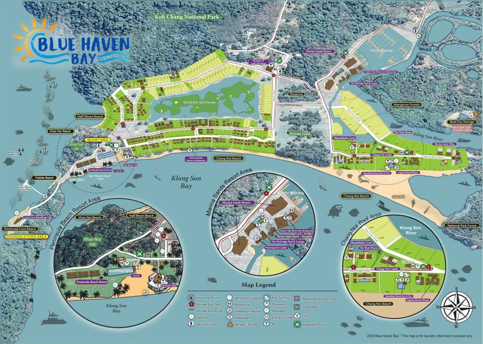 Карта  Blue Haven Resort