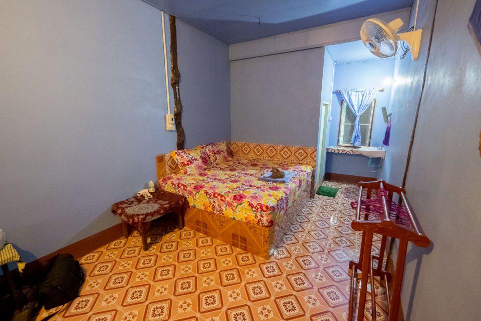 Кровать в Mata Guesthouse